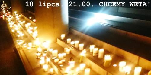 Łańcuch Światła, 18 lipca 2017, godz. 21:00 w Katowicach