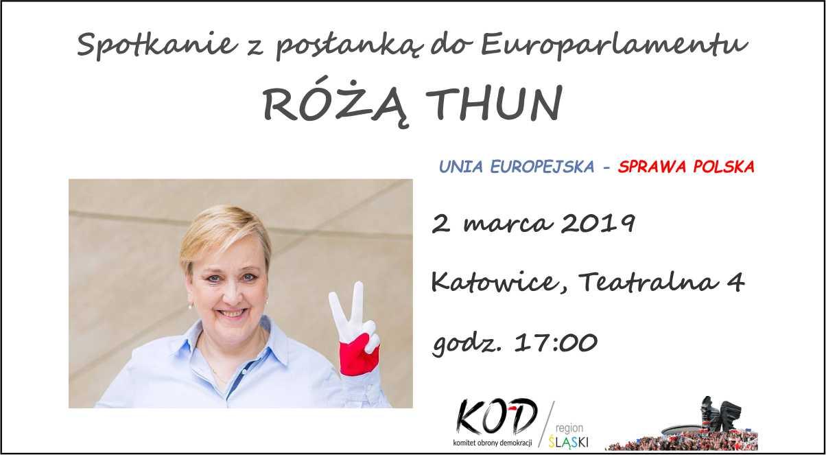 Spotkanie z posłanką do Parlamentu Europejskiego Różą Thun! @ Teatralna 4, Katowice