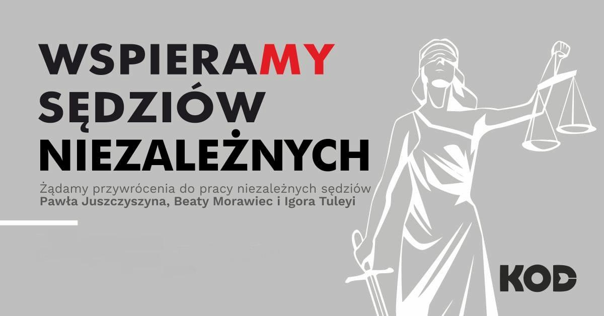 Wspieramy niezależnych sędziów @ Katowice Plac Wolności
